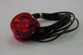 positionsljus LED röd helgjuten =>gummiarm