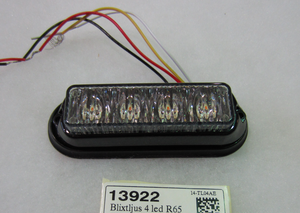 13922 Blixtljus 4 led ECE R65 orange 12/24